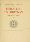 """Cover of """"Illustrated catalogue of the heraldic exhibition"""""""