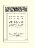 Cover of Illustrated catalogue of a selection of antiques and objets d'art from the earliest Egyptian and Babylonian Civilisations to the present time.