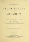 Cover of Illustrations of architecture and ornament