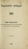 Cover of Imgerutsit nolôiggit 100 -
