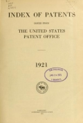Cover of Index of patents issued from the United States Patent Office
