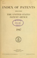 """Cover of """"Index of patents issued from the United States Patent Office"""""""
