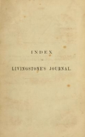 Cover of Index to Livingstone's journal