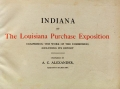 """Cover of """"Indiana at the Louisiana Purchase Exposition"""""""