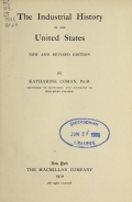 Cover of The industrial history of the United States