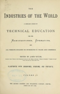 Cover of The industries of the world