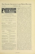 Cover of The Inland architect and news record v. 23 Aug 1894-Jan 1895
