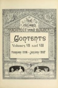 Cover of The Inland architect and builder