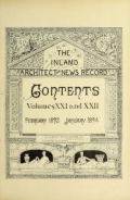 Cover of The Inland architect and news record v. 21 Feb-July 1893