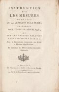 Cover of Instruction sur les mesures del¤uites de la grandeur de la terre