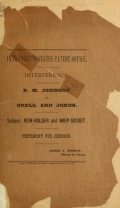 "Cover of ""Interference, B. M. Johnson vs. Odell and Jones"""