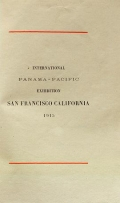 Cover of International Panama-Pacific Exhibition, San Francisco, California, 1915