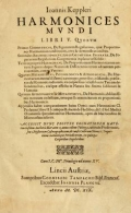 Cover of Ioannis Keppleri Harmonices mundi libri V