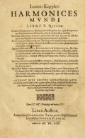 Cover of Ioannis Keppleri Harmonices mundi libri V