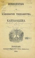 Cover of Ionteri8aienstak8a ne kari8iioston teieiasontha, Kahna8akeha
