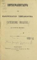 "Cover of ""Ionteriwaienstakwa ne Kariwiioston Teieiasontha ="""