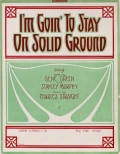 """Cover of """"I'm goin' to stay on solid ground"""""""