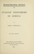 Cover of Italian explorers in Africa