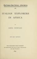 "Cover of ""Italian explorers in Africa"""