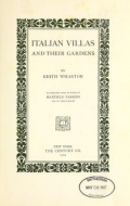 Cover of Italian villas and their gardens