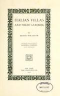 Cover of Italian villas and their gardens