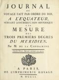 """Cover of """"Journal du voyage fait par ordre du roi, a l'équateur"""""""