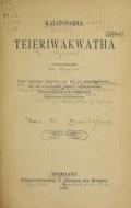 Cover of Kaiatonsera teieriwakwatha onkweonweneha