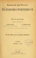 """Cover of """"Karmarsch und Heeren's Technisches Wörterbuch"""""""