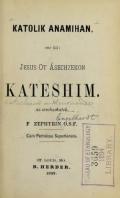 """Cover of """"Katolik anamïhan, ene kä: Jesus ot Äsechzekon kateshim"""""""