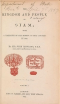 Cover of The kingdom and people of Siam