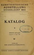 Cover of Kunsthistorische Ausstellung Düsseldorf 1904 - Katalog.