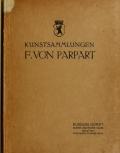 Cover of Kunstsammlungen F. von Parpart