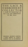 Cover of The lace & embroidery collector