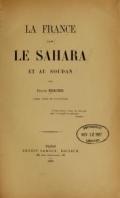 Cover of La France dans le Sahara et au Soudan