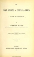 """Cover of """"The lake regions of Central Africa a picture of exploration /"""""""