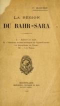 Cover of La région du Bahr-Sara
