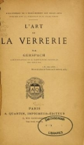 Cover of L'art de la verrerie