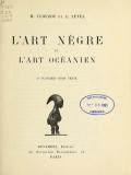 """Cover of """"L'art nègre et l'art océanien"""""""