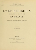 Cover of L'art religieux de la fin du moyen âge en France