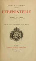 Cover of L'ébénisterie
