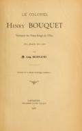 Cover of Le Colonel Henry Bouquet, vainqueur des Peaux-Rouges de l'Ohio