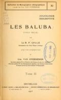 Cover of Les Baluba (Congo Belge)