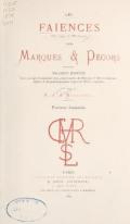 Cover of Les faïences anciennes & modernes
