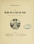 Cover of Les musées de la Ville de Paris