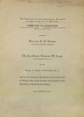 """Cover of """"Letters of William E.D. Stokes ... to his excellency Herbert W. Ladd, governor of Rhode Island, ... and the Board of Trade of Providence, R.I"""""""