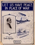 "Cover of ""Let us have peace in place of war"""
