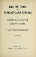 Cover of Life-histories of African game animals
