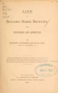 Cover of Life of Benjamin Harris Brewster