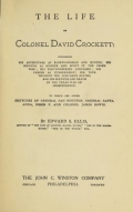 Cover of The life of Colonel David Crockett