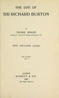 """Cover of """"The life of Sir Richard Burton"""""""